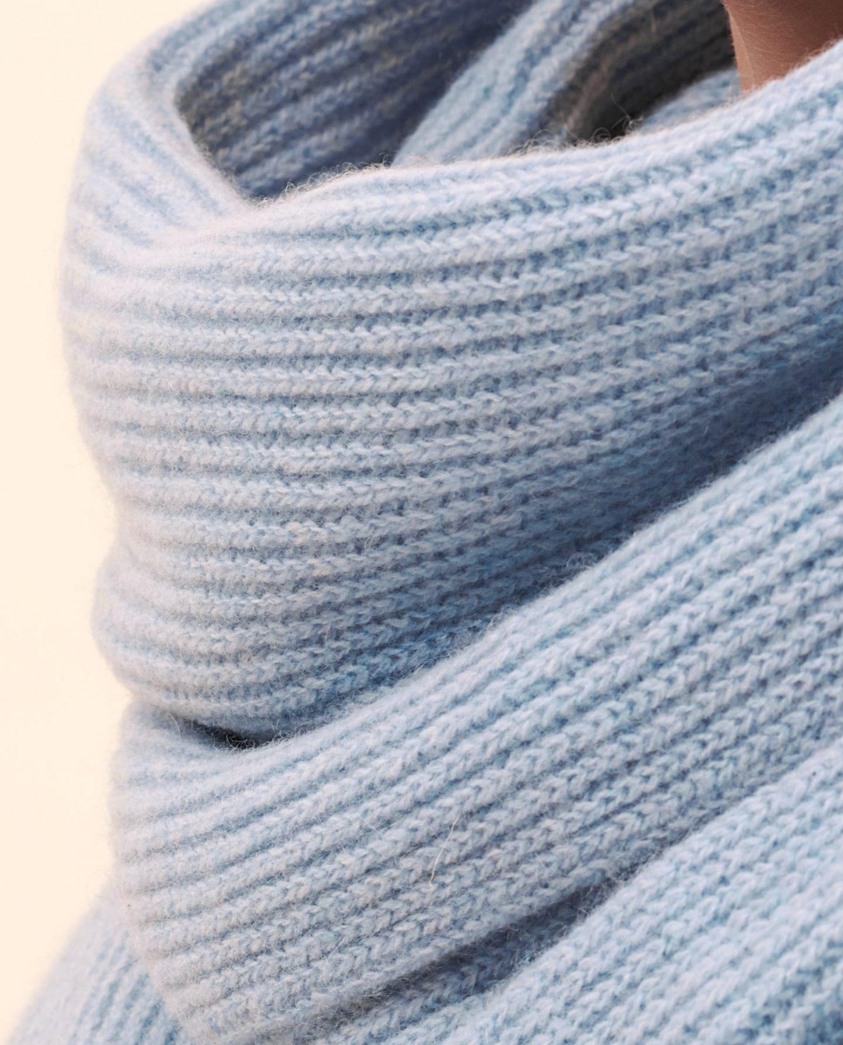 Schal hellblau kaschmir