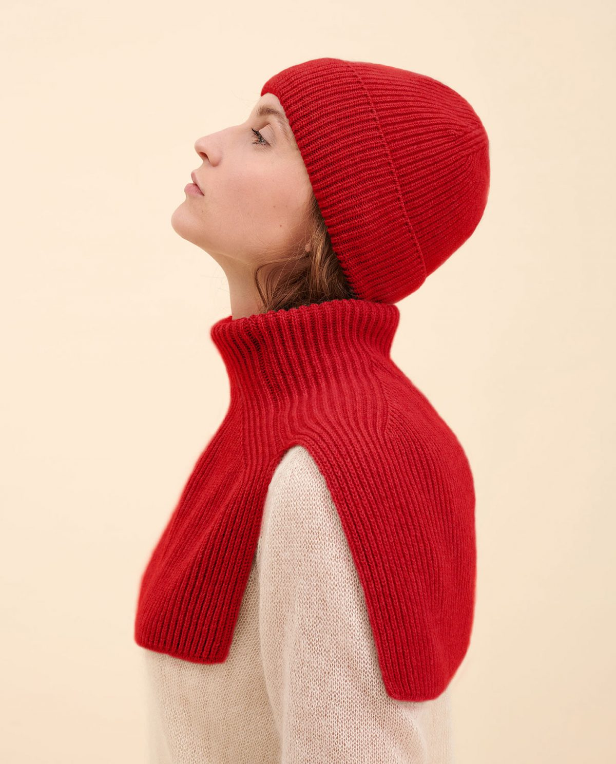Mütze rot kaschmir
