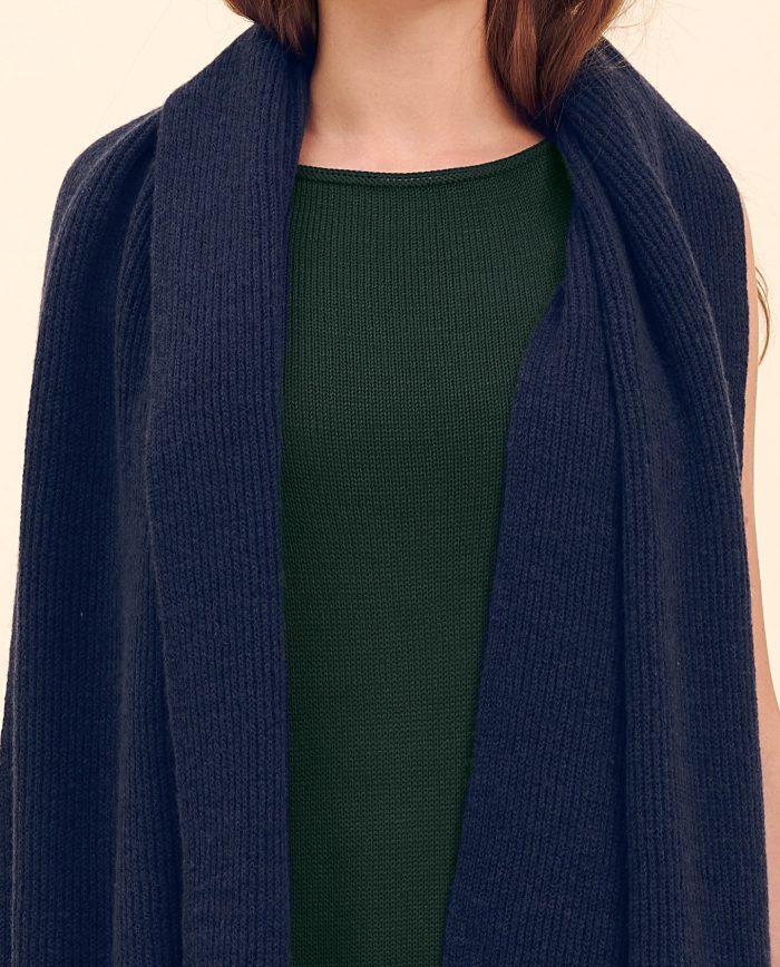 Schal nachtblau kaschmir