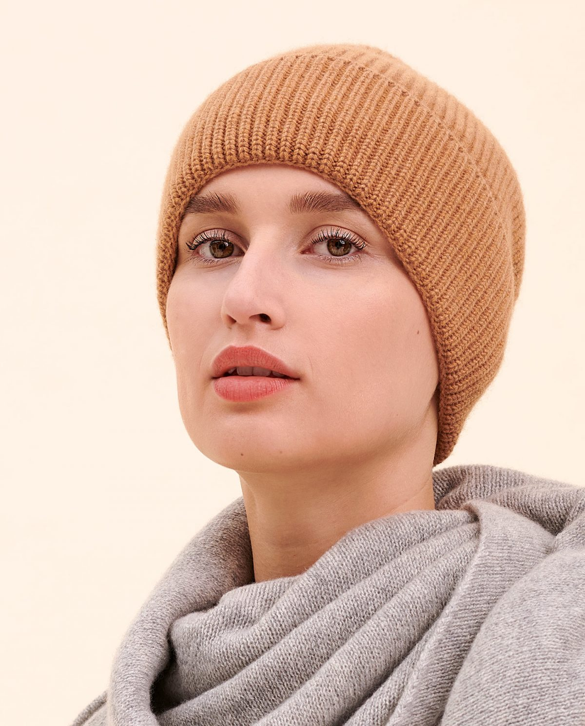 Mütze camel kaschmir